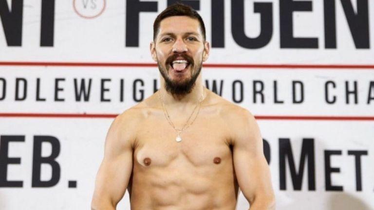 Diego Magdaleno en un pesaje