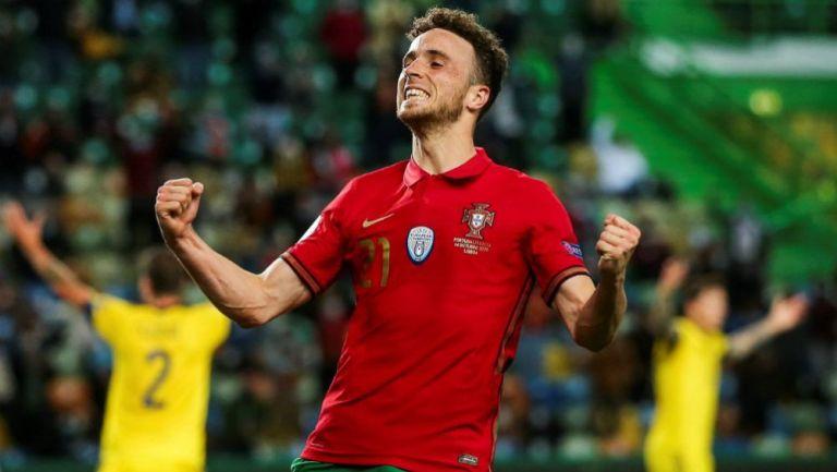 Diogo Jota en celebración con Portugal