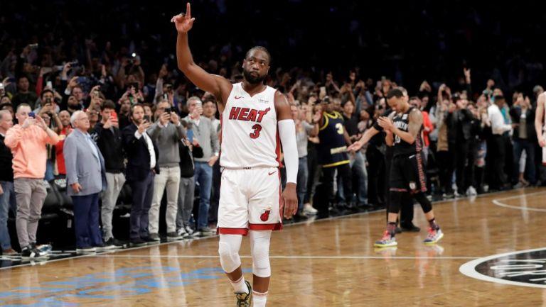 Dwyane Wade durante un partido con Miami Heat