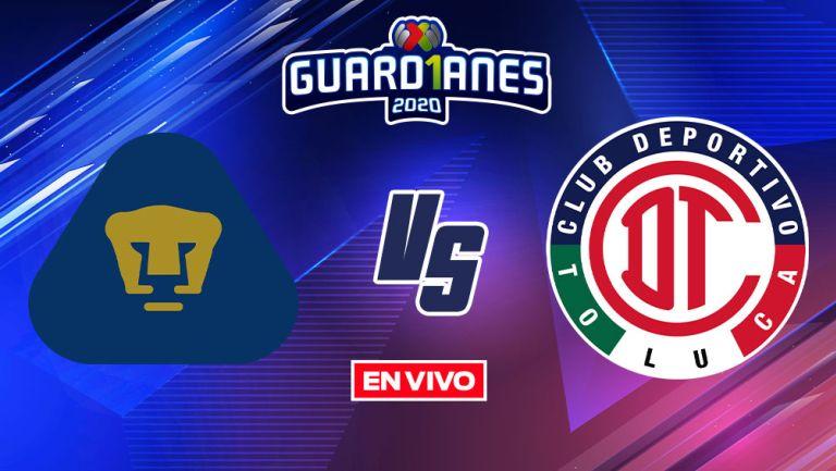 EN VIVO Y EN DIRECTO:  Pumas vs Toluca Guardianes 2020 J14