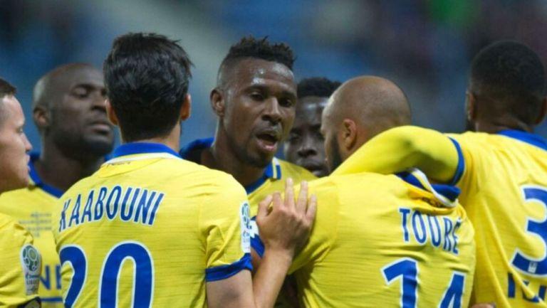 Ousseynou Thioune en un partido con el Sochaux