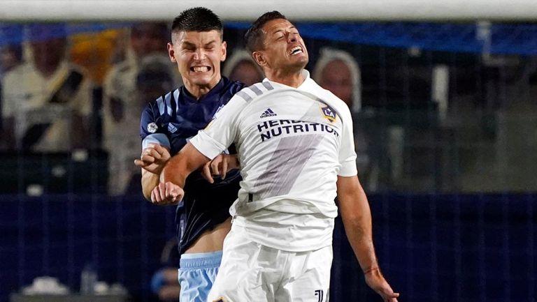 Chicharito jugó segundo tiempo y falló una clara en victoria del Galaxy