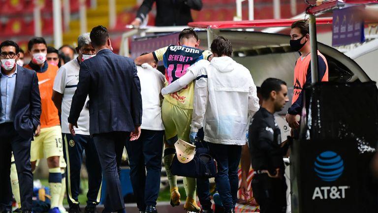 Nicolás Benedetti tras la lesión contra León