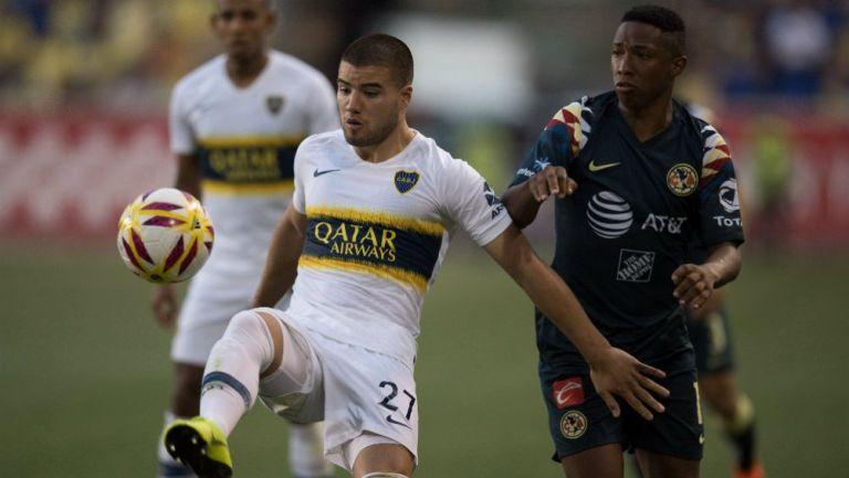 Acción en el América vs Boca Juniors amistoso