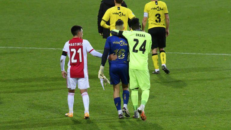 Edson Álvarez: Arquero del VV Venlo que recibió 13 goles del Ajax salió entre lágrimas del juego