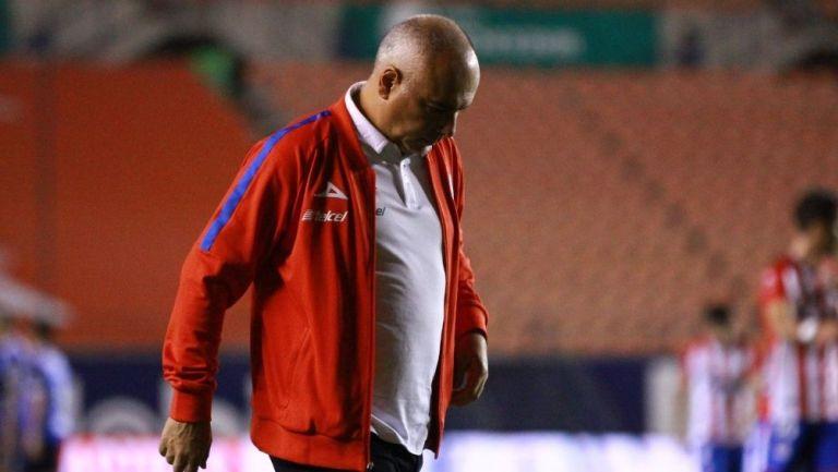 Memo Vázquez en un partido con San Luis