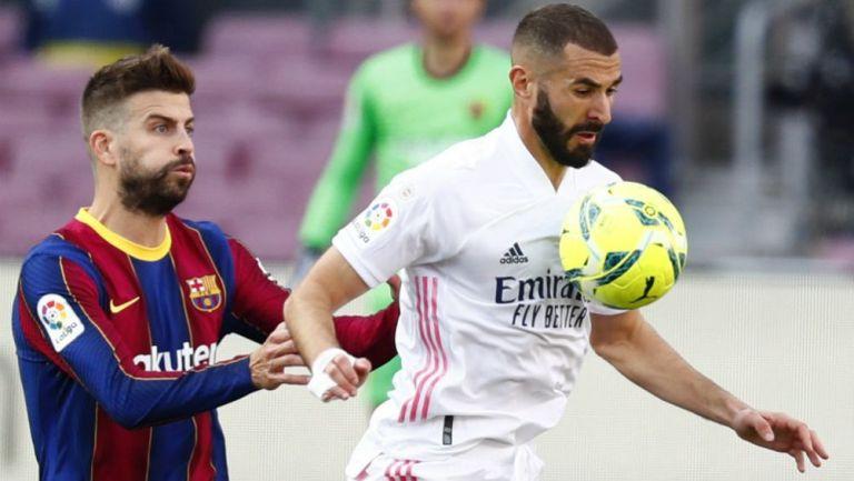 Karim Benzema en acción con Real Madrid