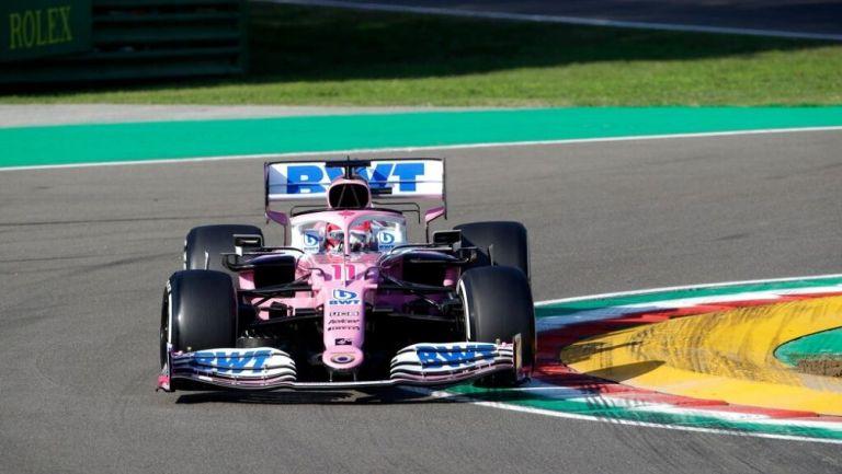Serio Pérez durante el GP de Imola