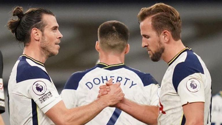 Gareth Bale y Harry Kane al fina del partido
