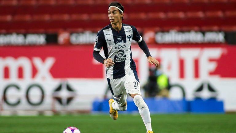 Daniel Parra durante un partido con Monterrey