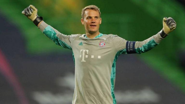Manuel Neuer en festejo