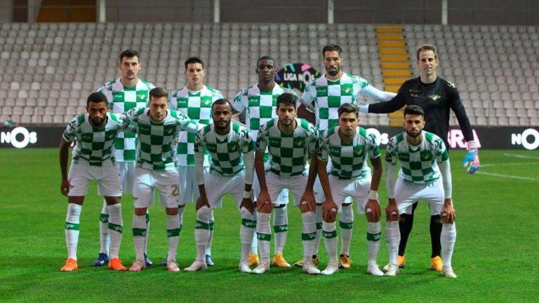 Los jugadores del Moreirense previo a un partido