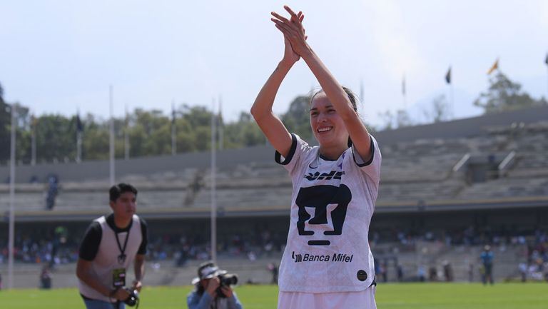 Diana Gómez en partido con Pumas Femenil