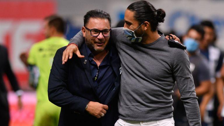 Mohamed y Aldo de Nigris festejan la Copa MX de Rayados