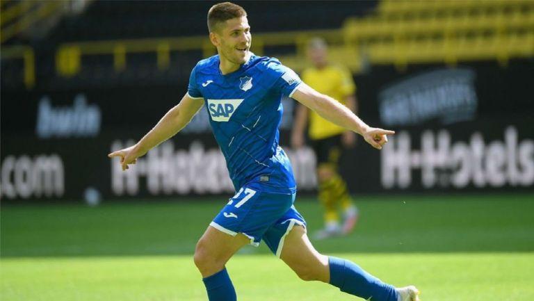 Andrej Kramaric celebrando un gol con el Hoffenheim