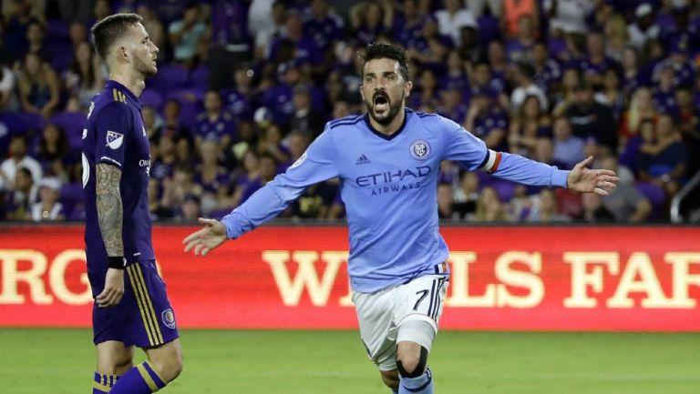 David Villa en su paso por el New York City FC