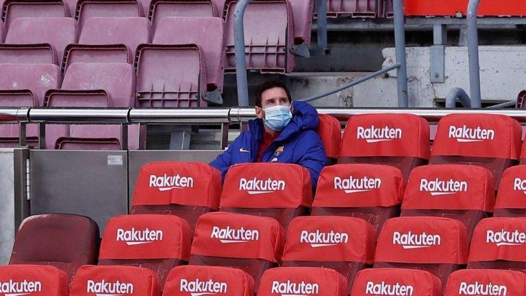 Lionel Messi en la banca