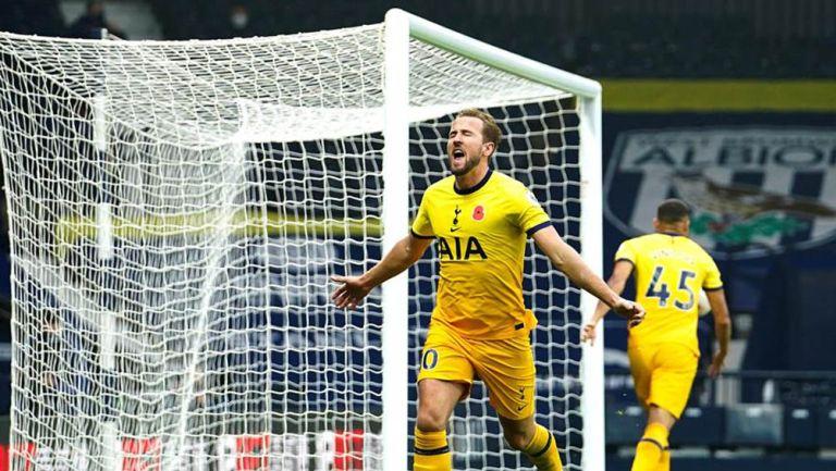 Harry Kane festeja el gol del triunfo