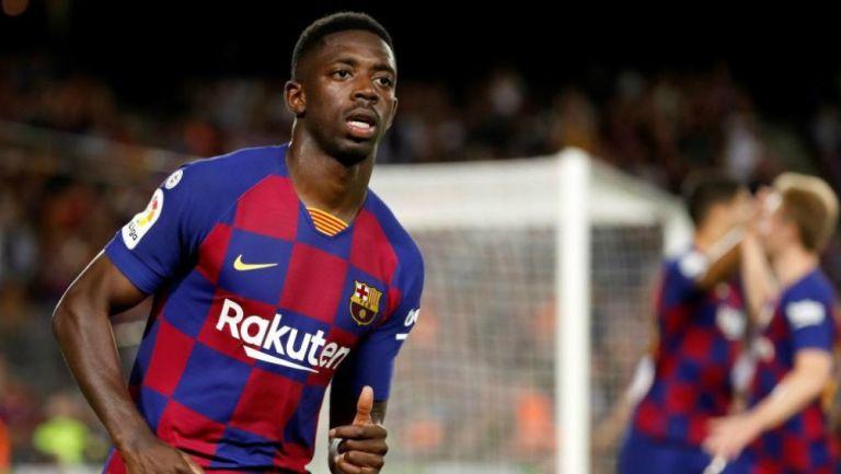 Dembélé en partido con Barcelona