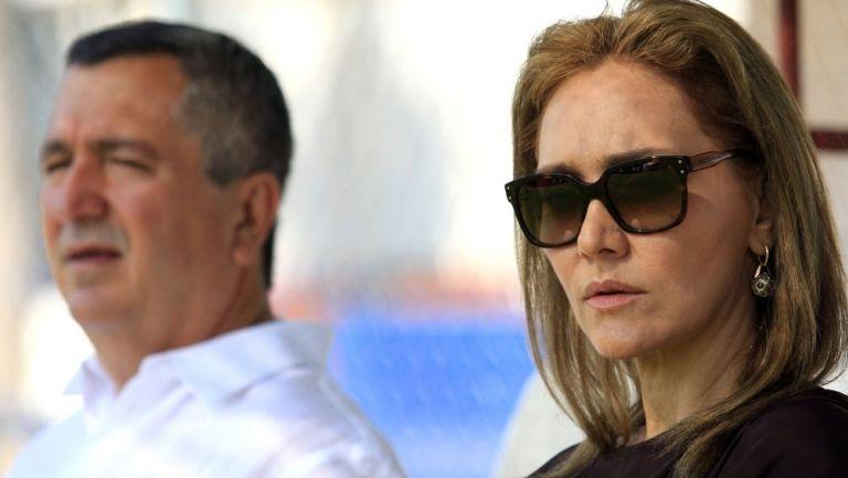 Angélica Fuentes con Jorge Vergara