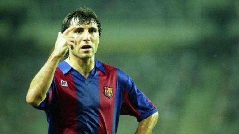 Hristo Stoichkov en su paso por el Barcelona