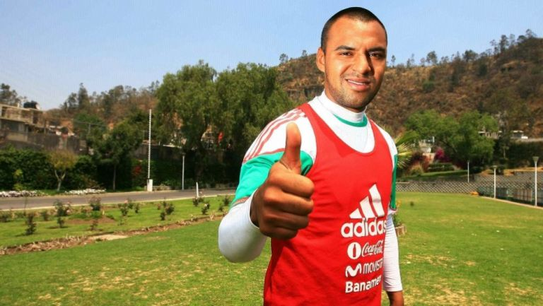 Edgar Pacheco en un entrenamiento con la Selección Mexicana