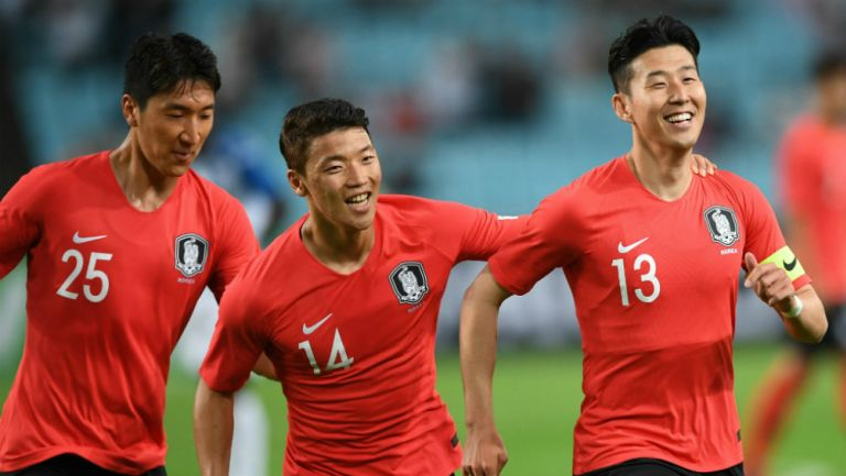 Corea del Sur en partido