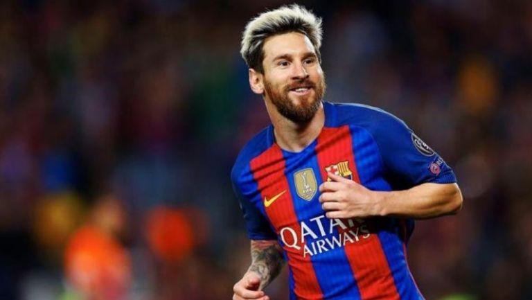 Lionel Messi en el partido del Barcelona