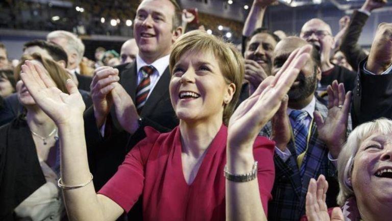 Nicola Sturgeon en un evento político