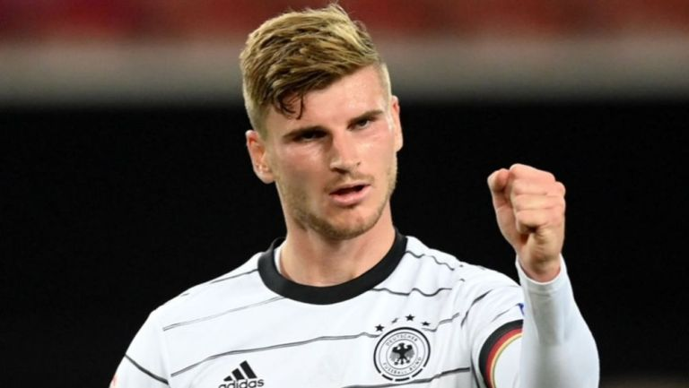 Timo Werner luego de anotar gol con Alemania