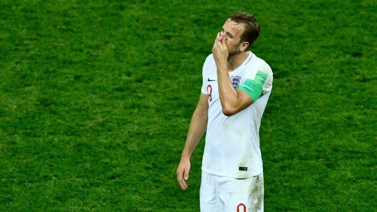 Harry Kane en un partido con Inglaterra
