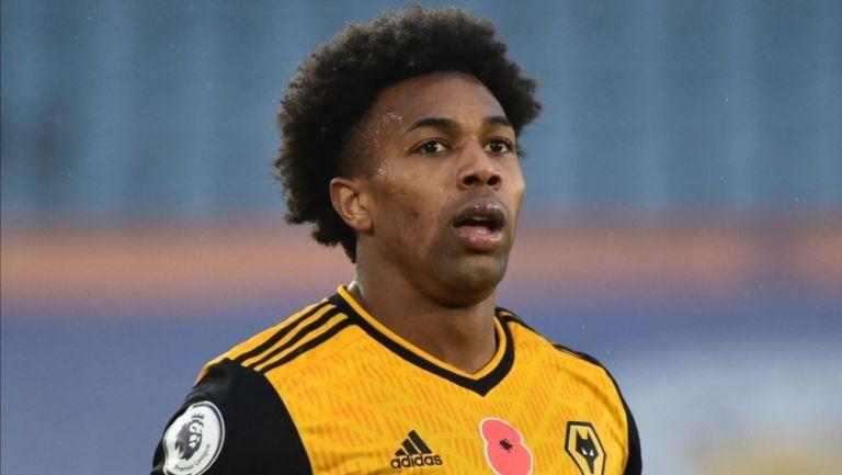 Adama Traoré en un partido con el Wolverhampton