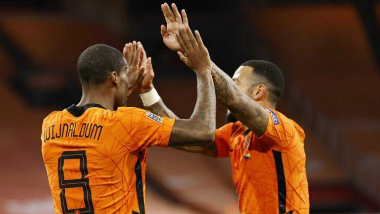 Holanda en festejo de gol