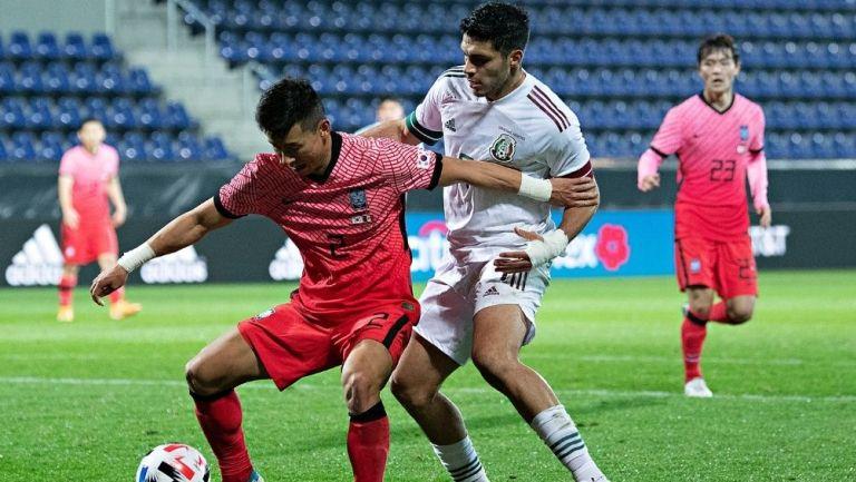 Corea del Sur en su partido contra México