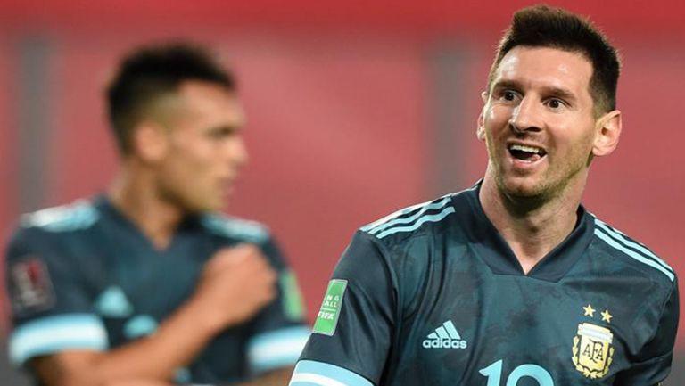 Messi, feliz en un juego de Argentina