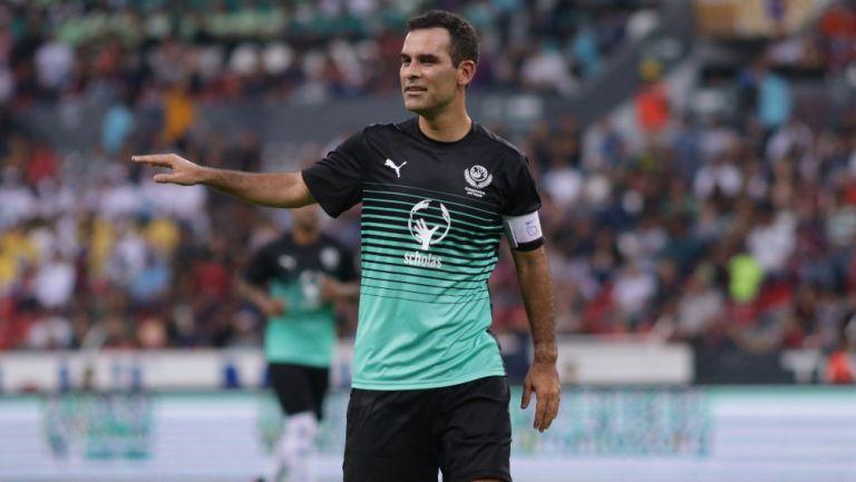 Rafa Márquez durante un partido de leyendas