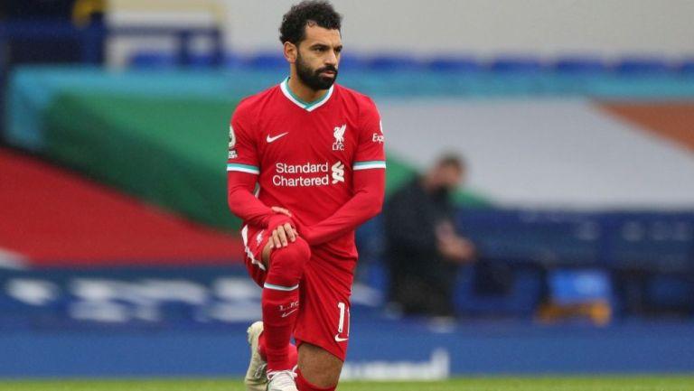 Mohamed Salah en un partido con el Liverpool