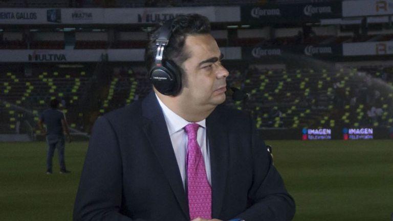 Ángel García Toraño durante una transmisión