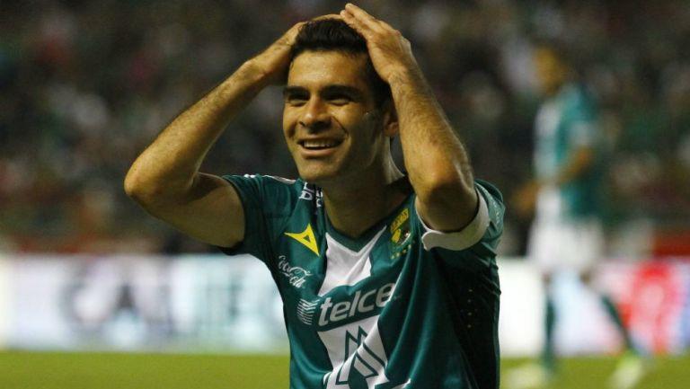 Rafael Márquez riendo como jugador del León