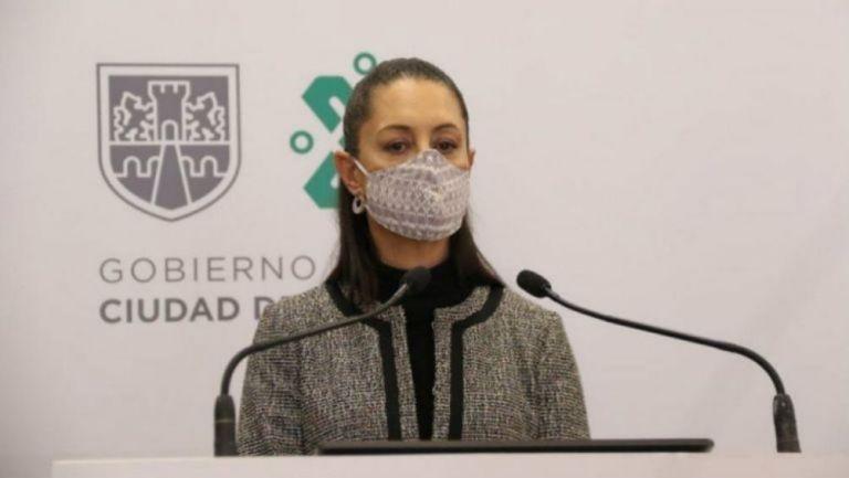 La jefa de Gobierno durante su conferencia