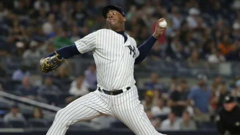 MLB REDUCE sanción de Aroldis Chapman tras apelación del cubano