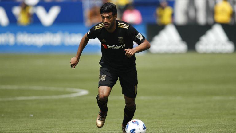 Carlos Vela en partido con LAFC