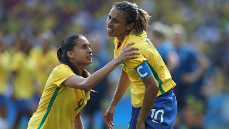 Marta Vieira, figura de la selección femenina de Brasil