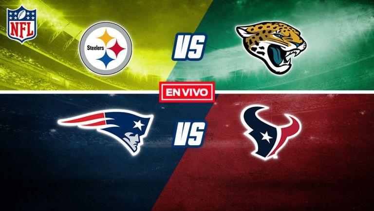 EN VIVO Y EN DIRECTO: Steelers vs Jaguars y Patriots vs Texans