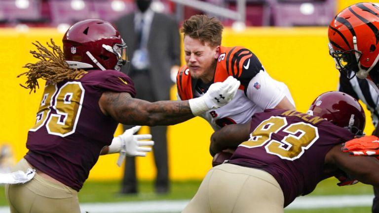 NFL: Joe Burrow salió lesionado en juego ante Washington