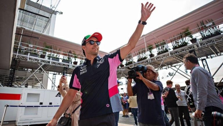 Sergio Pérez durante un evento
