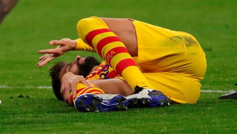 Barcelona: Gerard Piqué estaría hasta ocho meses fuera por lesión