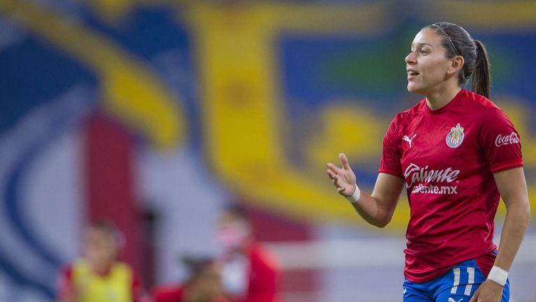 Norma Palafox previo a un partido de Chivas