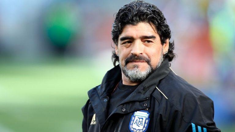Diego Armando Maradona como director técnico de Argentina