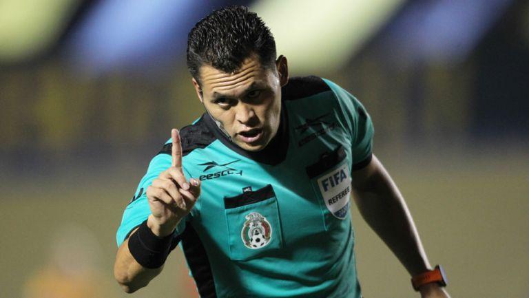 Pérez Durán, en un juego de la Liga MX